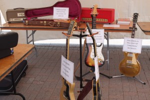 A few rarified geetars at the Railways Guitar Fest