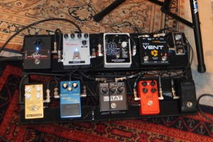 Pedal board as it has evolved